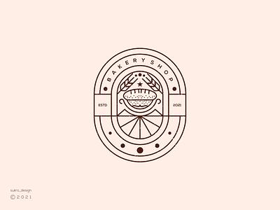 Bakery Shop logo store cake line bakery ux vector ui illustration icon minimal graphic design logo design branding