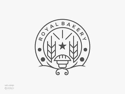 Royal Bakery logo logomark logos logoinspiration brand cakes store line bakery ux vector ui illustration icon minimal graphic design logo design branding
