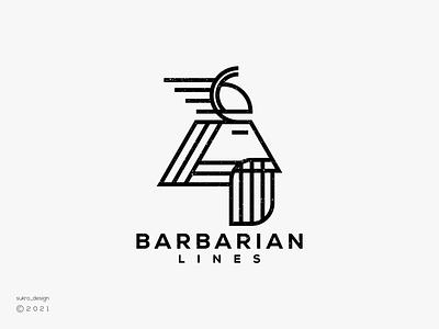 Barbarian Lines logo coll clean logoinspiration logomark brand logos elegant hero barbarian lines ux vector ui illustration icon minimal graphic design logo design branding