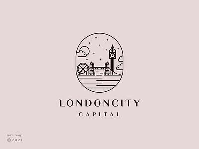 LondonCity logo logoinspiration logomark logos line london vector illustration icon minimal graphic design logo design branding