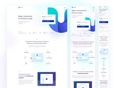 Universal Login new website button minimal illustration crypto ethereum blockchain landing web ui design