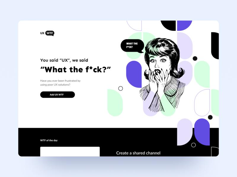 UX-What the f*ck? ethworks white minimal violet app solution illustration page web ux website wtf landing design