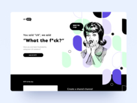 UX-What the f*ck? ethworks white minimal violet app solution illustration page web ux website wtf landing design