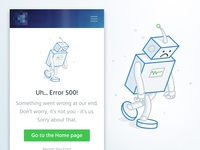 Error 500 page