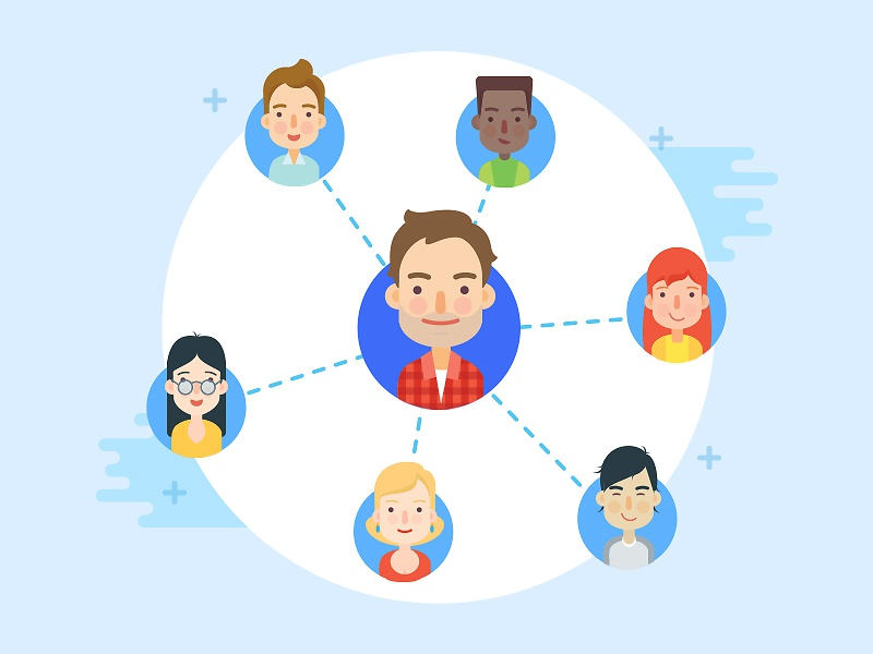 Connections character design web avatar minimal vector connection icons avatars illustration