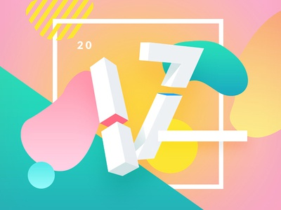 2017 (Internet Explorer) shadow gradient typography year colors illustration 2017