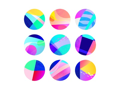 Crazy Avatars holder place web avatars app dots gradient colors avatar