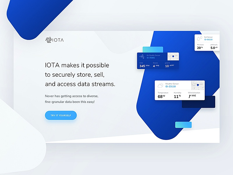 IOTA - sneak peek 👀 landing design ethereum bitcoin token blockchain currency crypto iota