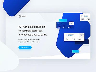 IOTA - sneak peek 👀 landing design ethereum bitcoin token blockchain currency crypto iota