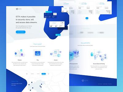 Data - IOTA - DApp currency ux ui design data page landing crypto dapp iota