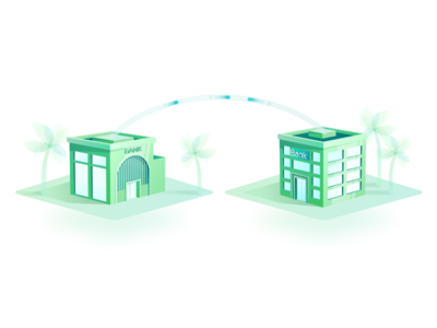 Verify Payment - Illustration web ethereum transfer landing design isometric blockchain payments illustration