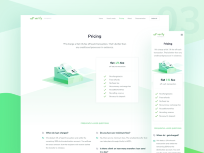 💥Verify Payment - Pricing web ethereum transfer landing design pricing isometric blockchain payments illustration
