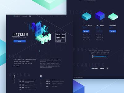 HACKETH - Ethereum Hackathon agenda 0x mentors page landing crypto design website hackathon ethereum