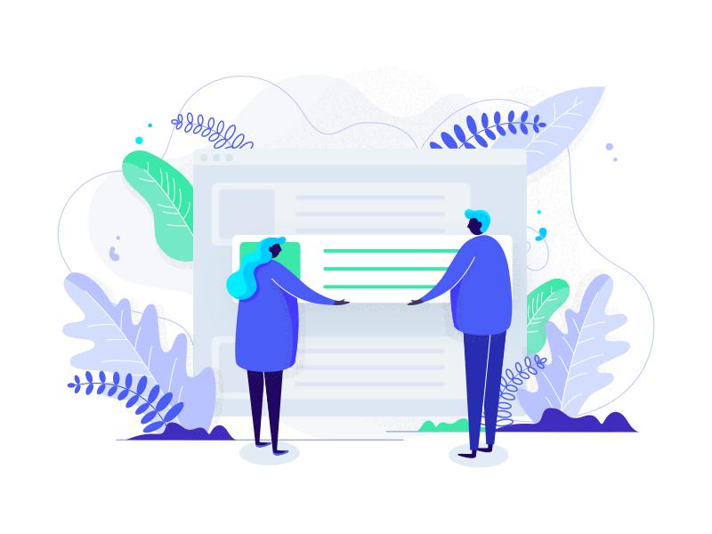 ✨Illustration build ui blockchain crypto browser design minimal illustration