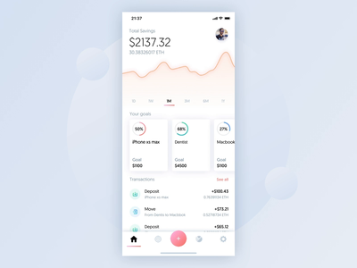 Crypto savings app animation wallet token savings finance exchange ethereum ether cryptocurrency crypto coin blockchain bitcoin