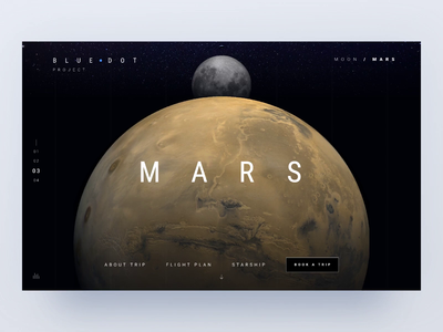 Blue dot - 🌒 and Mars trips
