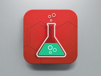 Lab Icon Red