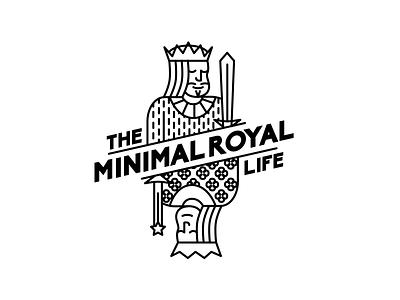 The Minimal Royal Life logo illustration design icon