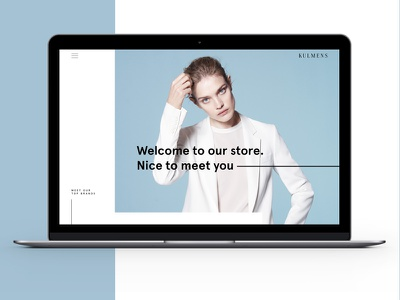 Fashion Store Re-Design parallax fashion retail webdesign