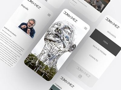 Artist Portfolio mobile ui responsive design portfolio ux ui