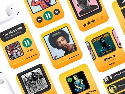 80s Walkman: WatchOS Music UI Kit walkman figma design figma ui kit ui design product design watch music app music watchos