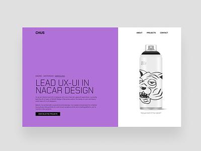 Portfolio Concept landing page web design branding agency portfolio