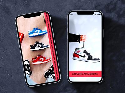 Sneakers App Concept air jordan jordan nike sneakers product design ux ui mobile