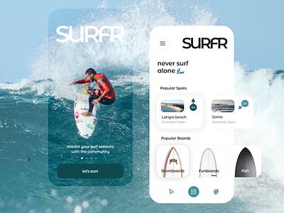 Surfing App Concept summer app summer waves beach action sport sport surfing surf mobile app mobile interface design online product design e shop mobile shop e commerce