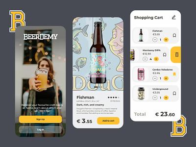Craft Beer Shop App Concept layout design craft shop ecommerce mobile ui-ux branding brewery draft craft beer beer mobile app mobile design mobile interface uiux ui