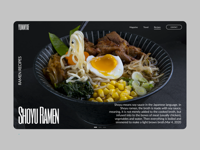Foodies Blog Concept | exploration uiux ui ux web blog foodies blog recipes noodles ramen foodies web design responsive design responsive