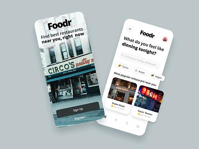 Restaurant Finder App Concept interface ramen pizza food restaurant layout mobile app uiux ux ui mobile interface mobile app