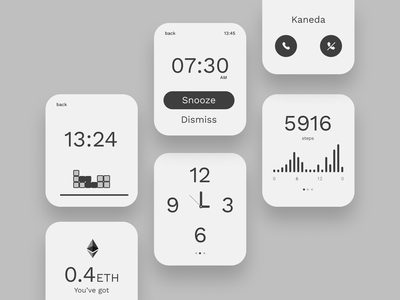 Smart Watch App Minimal Concept android wear android watch wearable apple watch ux ui app mobile product design minimal watch smart watch