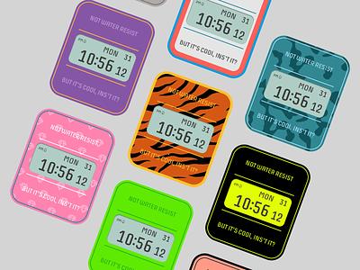 Smart Watch Retro Style - App Concept apple watch smartwatch vintage watch vintage style vintage style camo tiger retro smart app product design ux ui wearable android wear smart watch