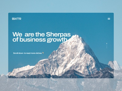 Business Growth Landing Concept corporate growth mountain layout ux ux ui web design web landing business