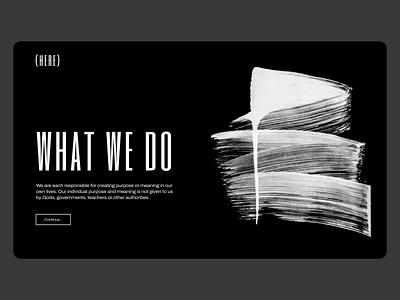Existentialism Blog Concept design ux ui ux blog philosophy existentialism reponsive web web design layout