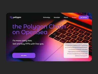Polygon Landing Concept concept responsive uiux nfts ethereum polygon ui ux landing page landing crypto web design web