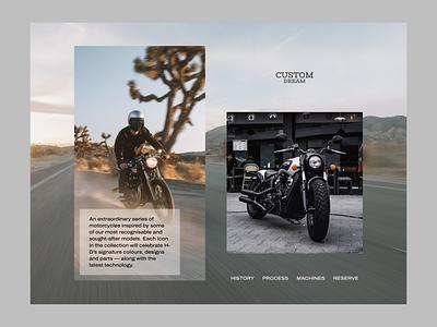 Custom Motorbikes Website Concept web responsive responsive design motorcicles motorbikes minimal design web design minimal brutalist ecommerce landing home page photography layout website