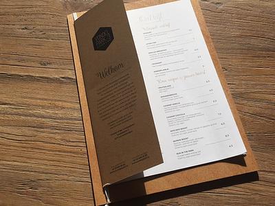 Restaurant Menu editorial wood design print