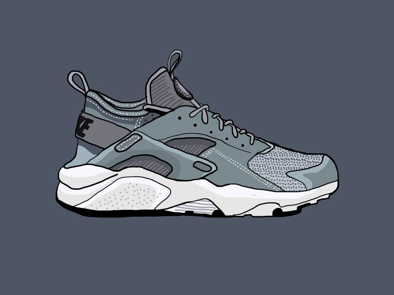 quality design c165b e4173 Nike Air Huarache Ultra vector sneakerhead illustration icon