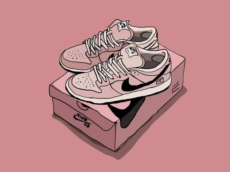 cartoon nike dunks