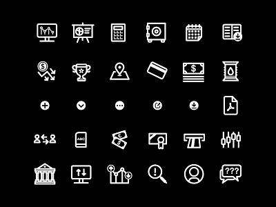Icons Set - Financial illustrator vector illustration ux icon