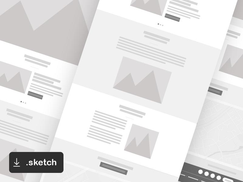 FREEBIE: Simple Web Wireframe for Sketch illustration wireframes sketchapp vector resources