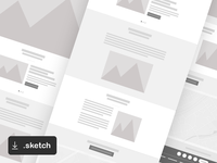 FREEBIE: Simple Web Wireframe for Sketch