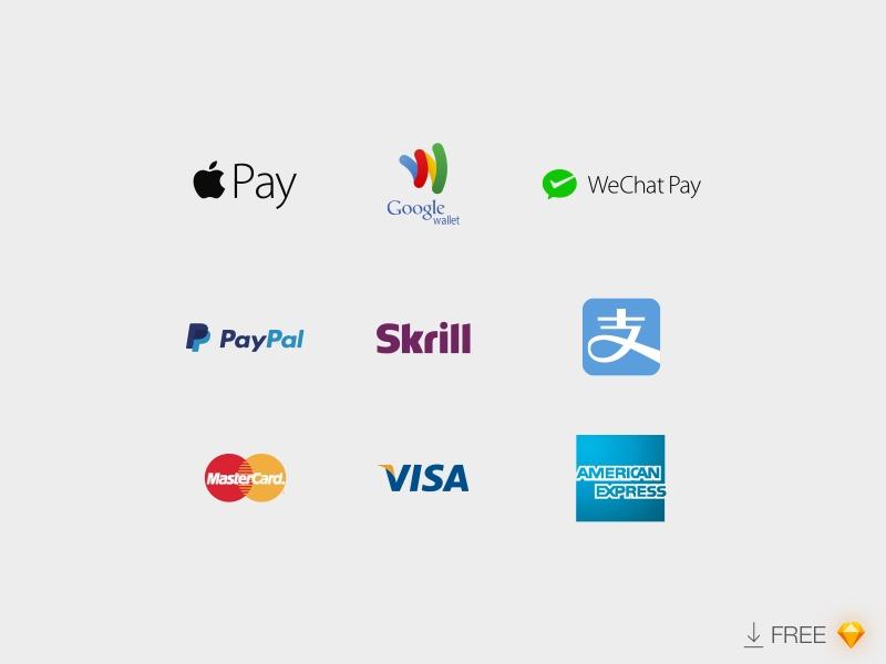 Payment Logos :: FREE Sketch File