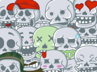 Skull Stickers Pack