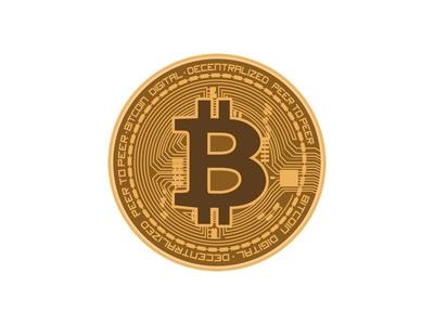Vector Bitcoin coin crytocurrency bitcoin illustrator fintech ui icons illustration