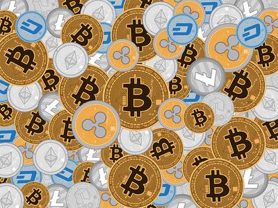 Cryptocurrencies Illustration