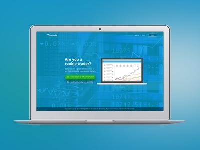 Financial Landing Page social platform stock market financial ui web landing fintech