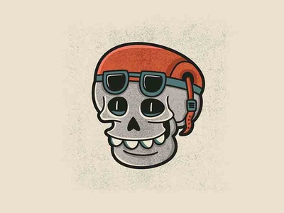 Speed Addict classic speed oldschool skull illustrator vector sticker tattoo illustration