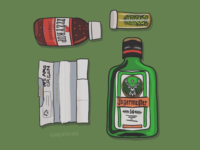 Friday Starter Kit booze weed illustrator vector loose kit illustration